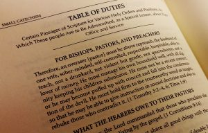 Table of Duties