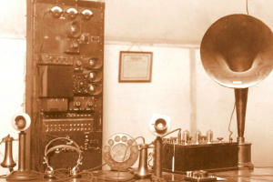 The Studio of the First KFUO Broadcast in 1924