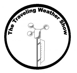 The Traveling Weather Show logo