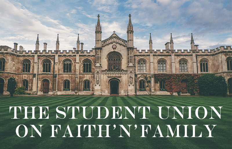 Student Union on Faith'n'Family
