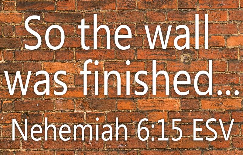 Nehemiah 6:15