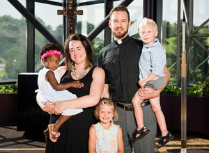 Portrait of Duane and Elizabeth Meissner, career missionaries to Belize, and their family, at the International Center of The Lutheran Church–Missouri Synod on Wednesday, June 11, 2015, in Kirkwood, Mo. LCMS Communications/Frank Kohn