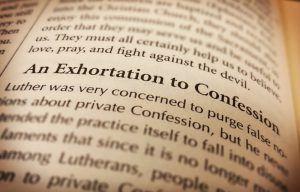 exhortation to confession
