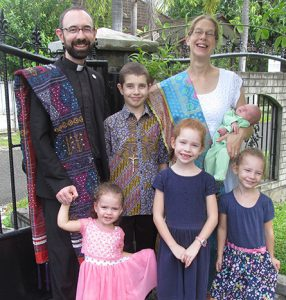 Rev. Charles Ferry and his family in Indonesia.