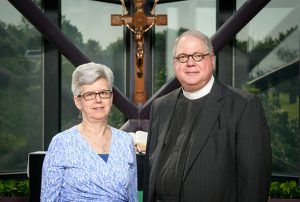 Portrait of the Rev. Charles Cortright and Connie Cortright at the International Center of The Lutheran Church–Missouri Synod on Monday, June 13, 2016, in Kirkwood, Mo. LCMS Communications/Erik M. Lunsford