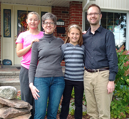 Rev. Charles and Deborah St-Onge and their children. LCMS COMMUNICATIONS