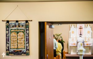 The Rev. Juan Luna leads worship at St. Paul Lutheran Church-Dewberry on Sunday, April 10, 2016, in Cross Plains, Ind. LCMS Communications/Erik M. Lunsford