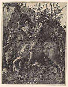 Albrecht Durer Knight, Death, and the Devil (1513) (Metropolitan Museum of Art, New York)