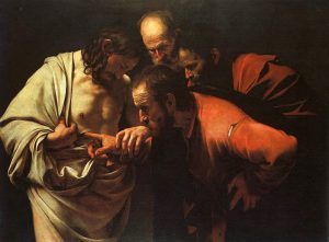 """""""The Incredulity of Saint Thomas"""" by Caravaggio"""