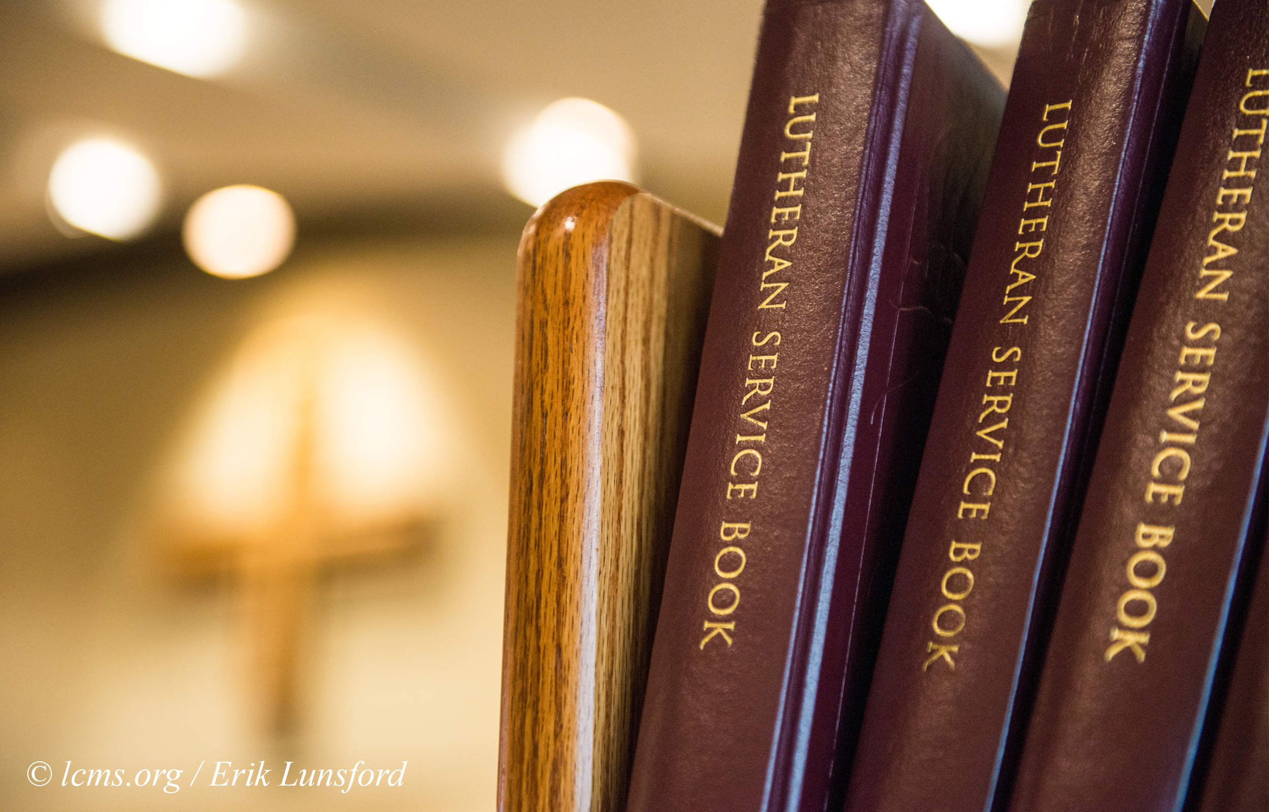 Lutheran Service Books in the chapel of Concordia University Texas on Wednesday, July 16, 2014, in Austin, Texas. LCMS Communications/Erik M. Lunsford