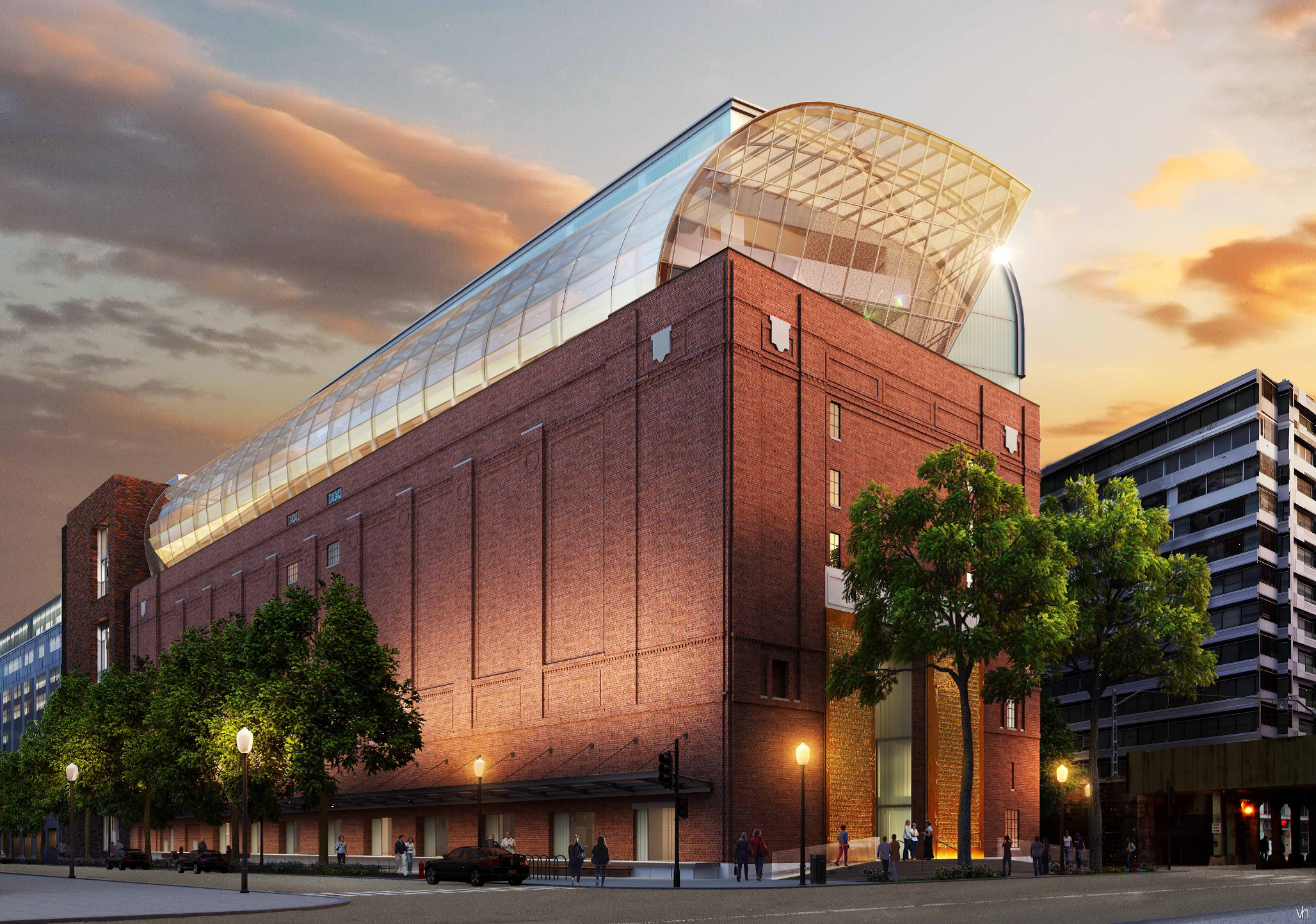 Exterior rendering of the eight-story, 430,000-square-foot Museum of the Bible. Opening in 2017, the museum is being designed by lead architect group SmithGroupJJR, whose portfolio includes the National Museum of African American History and Culture, International Spy Museum and the Smithsonian's National Museum of the American Indian. (Photo credit: SmithGroupJJR)