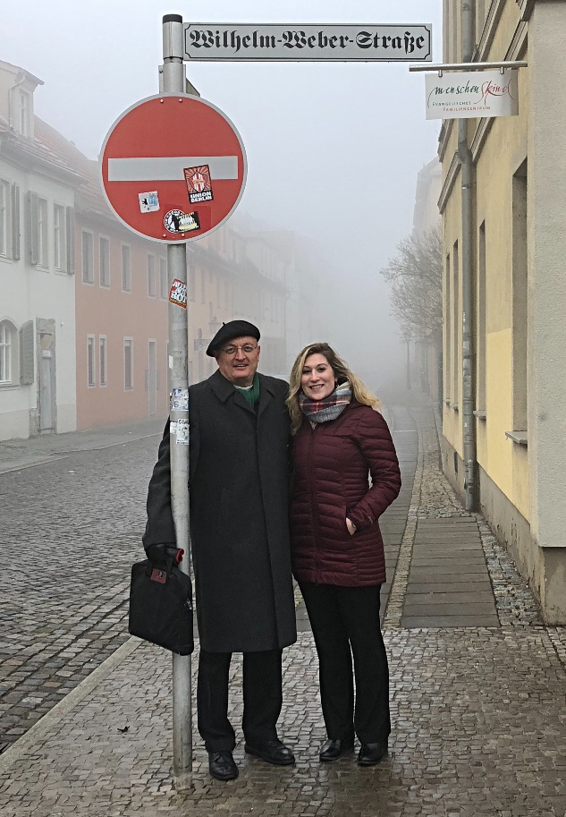 The Rev. Dr. Wilhelm Weber and Kristin Lange, incoming and outgoing Managing Directors of the Old Latin School in Wittenberg, Germany. /Old Latin School