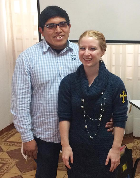 Deaconess Caitlin Worden de Ramirez and her husband Jeancarlos Ramirez.