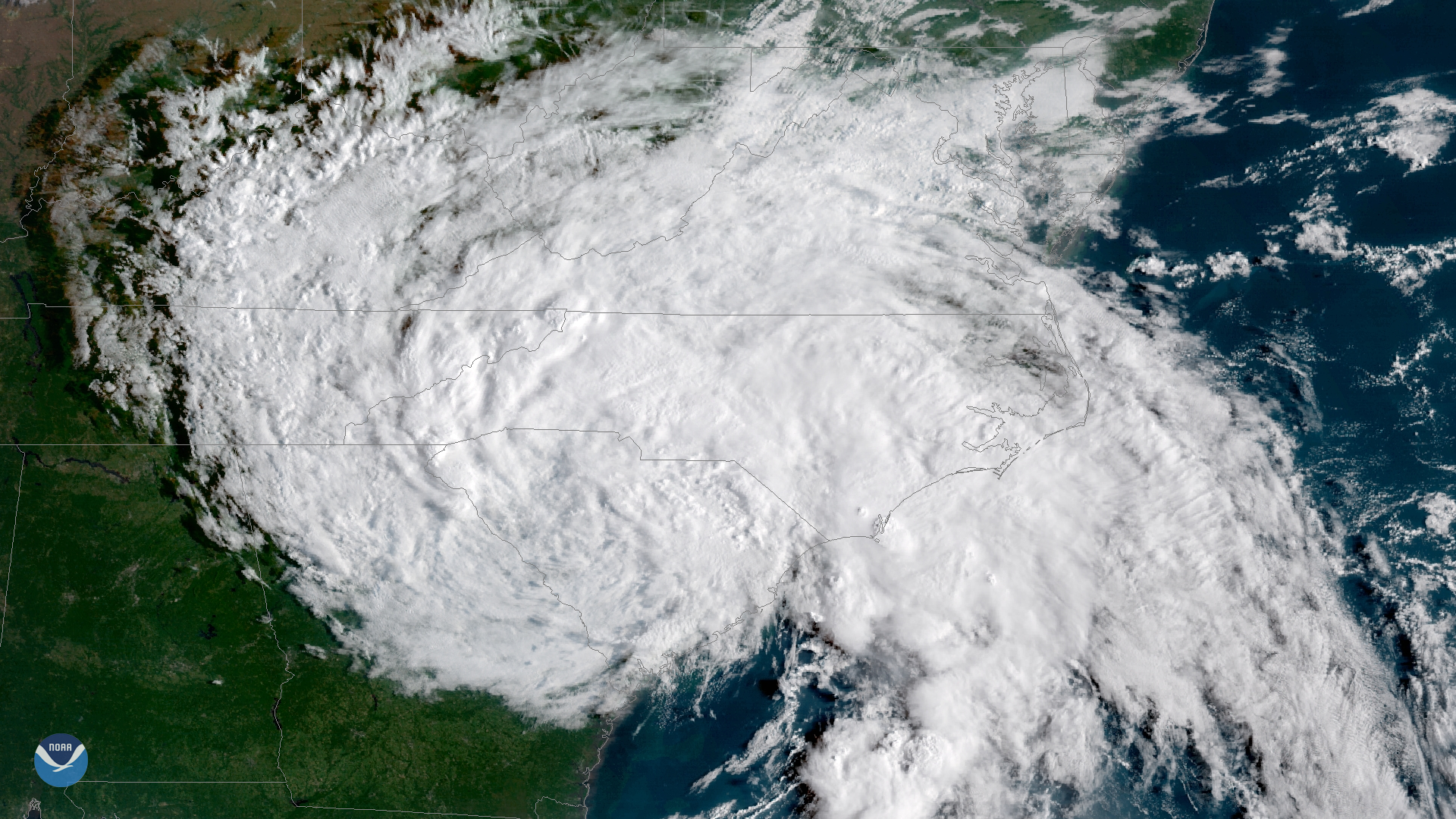 Satellite image of Hurricane Florence. NOAA / noaa.gov