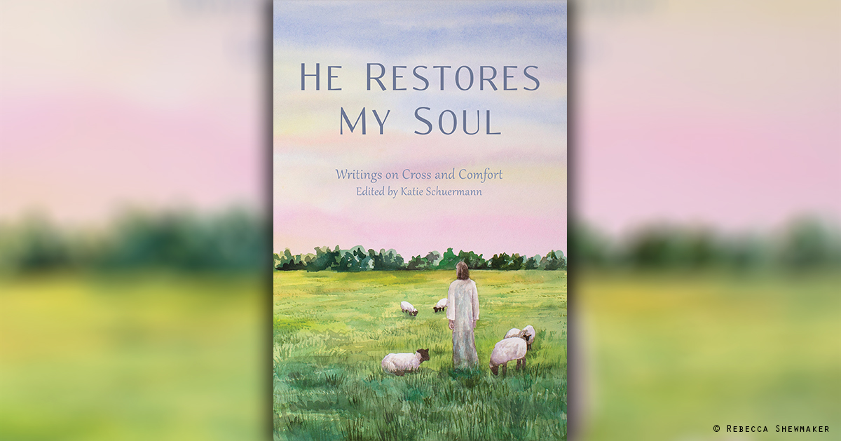 "Cover of ""He Restores My Soul"" from Emmanuel Press by artist Rebecca Shewmaker. Find details at emmanuelpress.us."