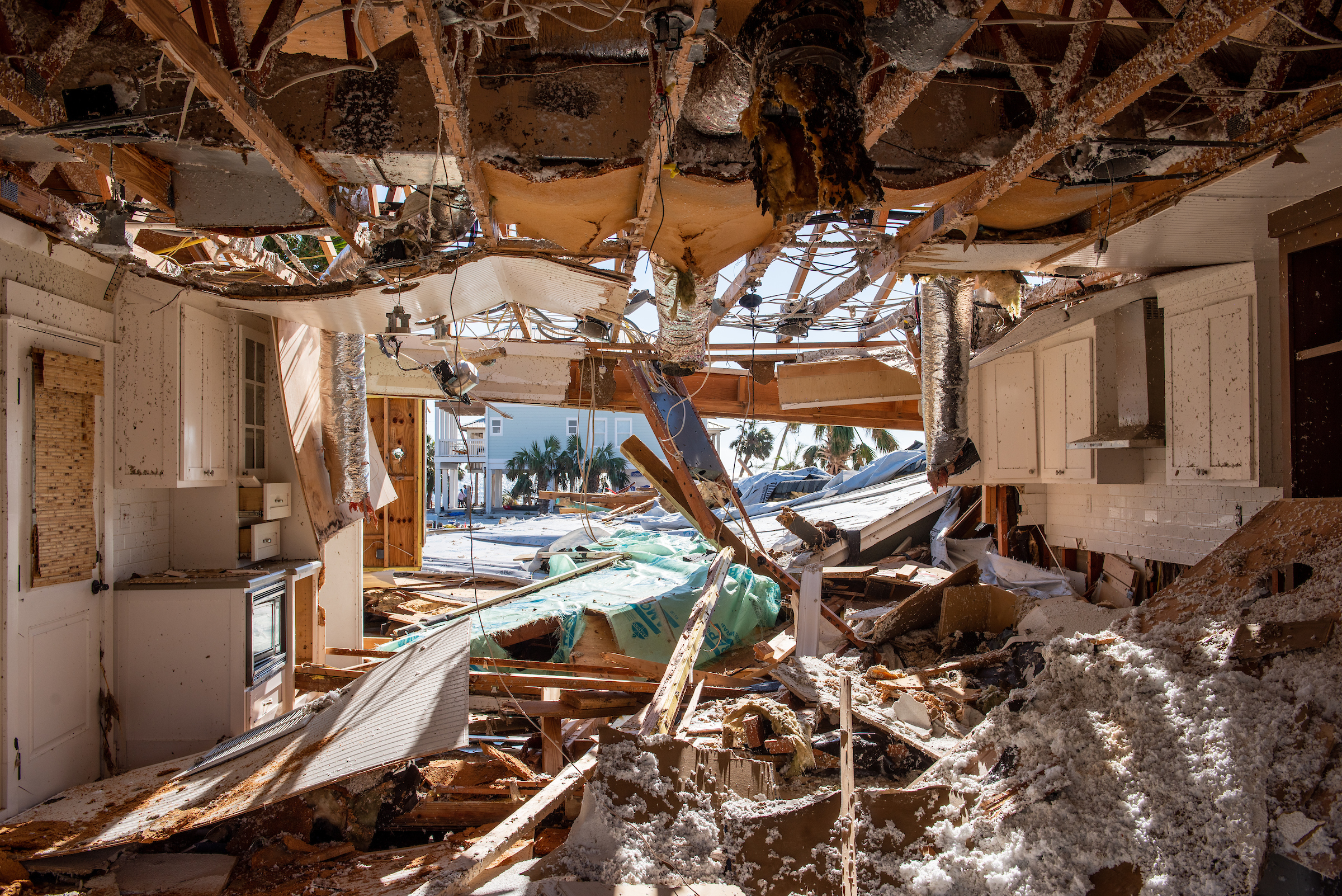 Destruction to a home from Hurricane Michael on Tuesday, Oct. 16, 2018, in Mexico Beach, Fla. LCMS Communications/Erik M. Lunsford