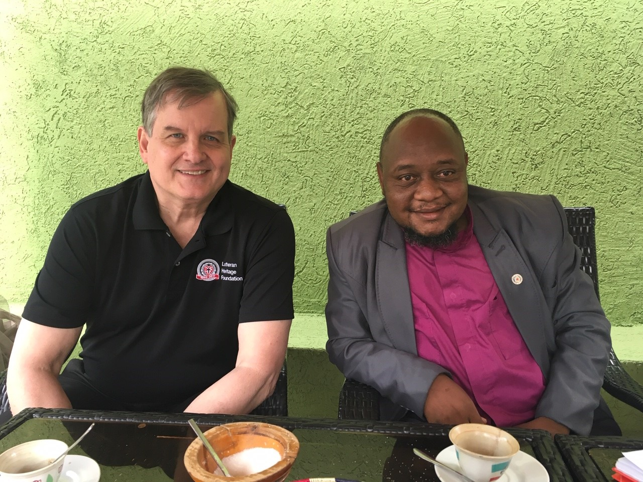 The Rev. Dr. Matthew Heise, Executive Director of Lutheran Heritage Foundation, and Bishop Peter Anibati of the Evangelical Lutheran Church of South Sudan / Sudan. Used with permission