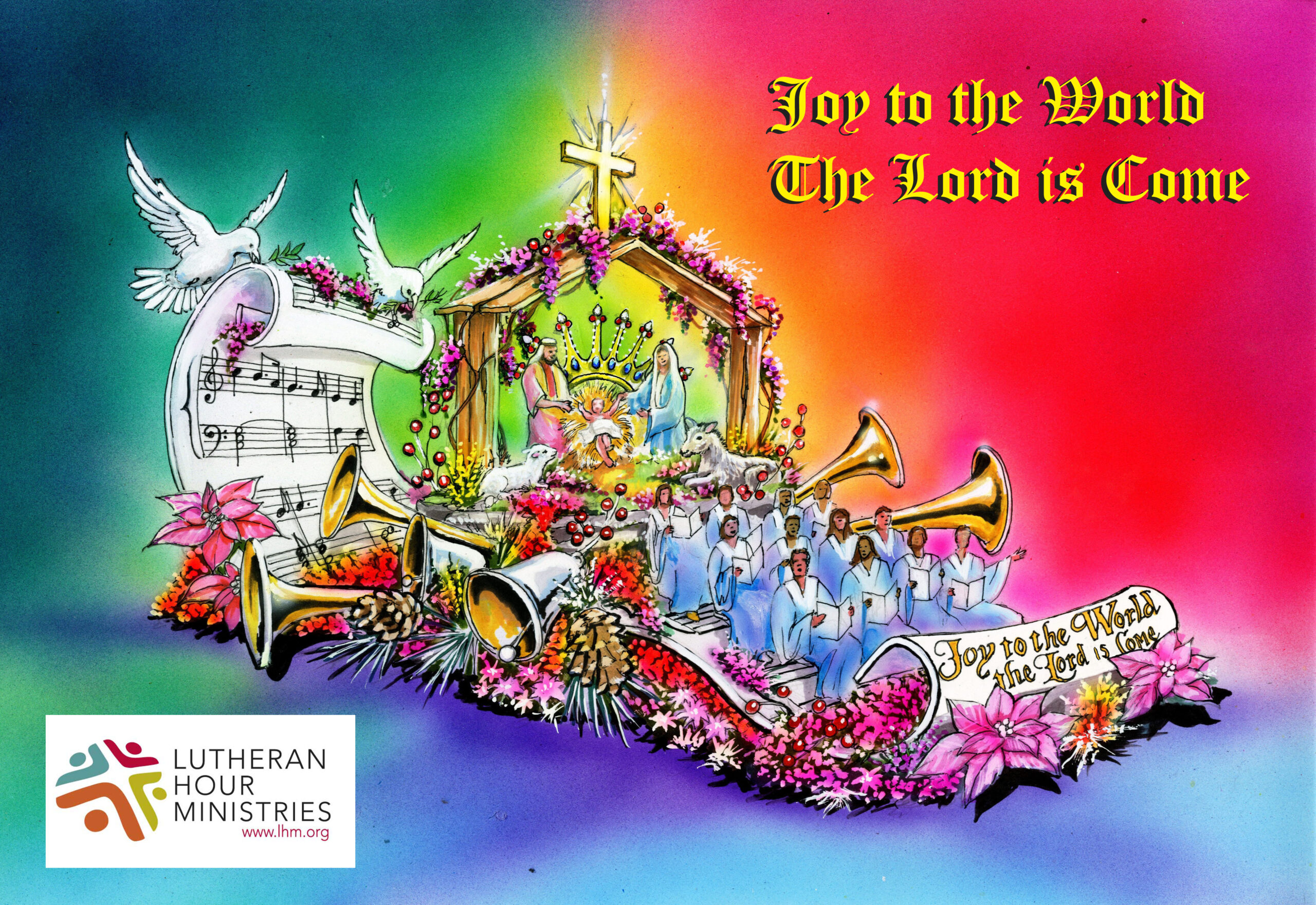 Rendering of the Lutheran Hour Ministries float in the 2019 Rose Parade.