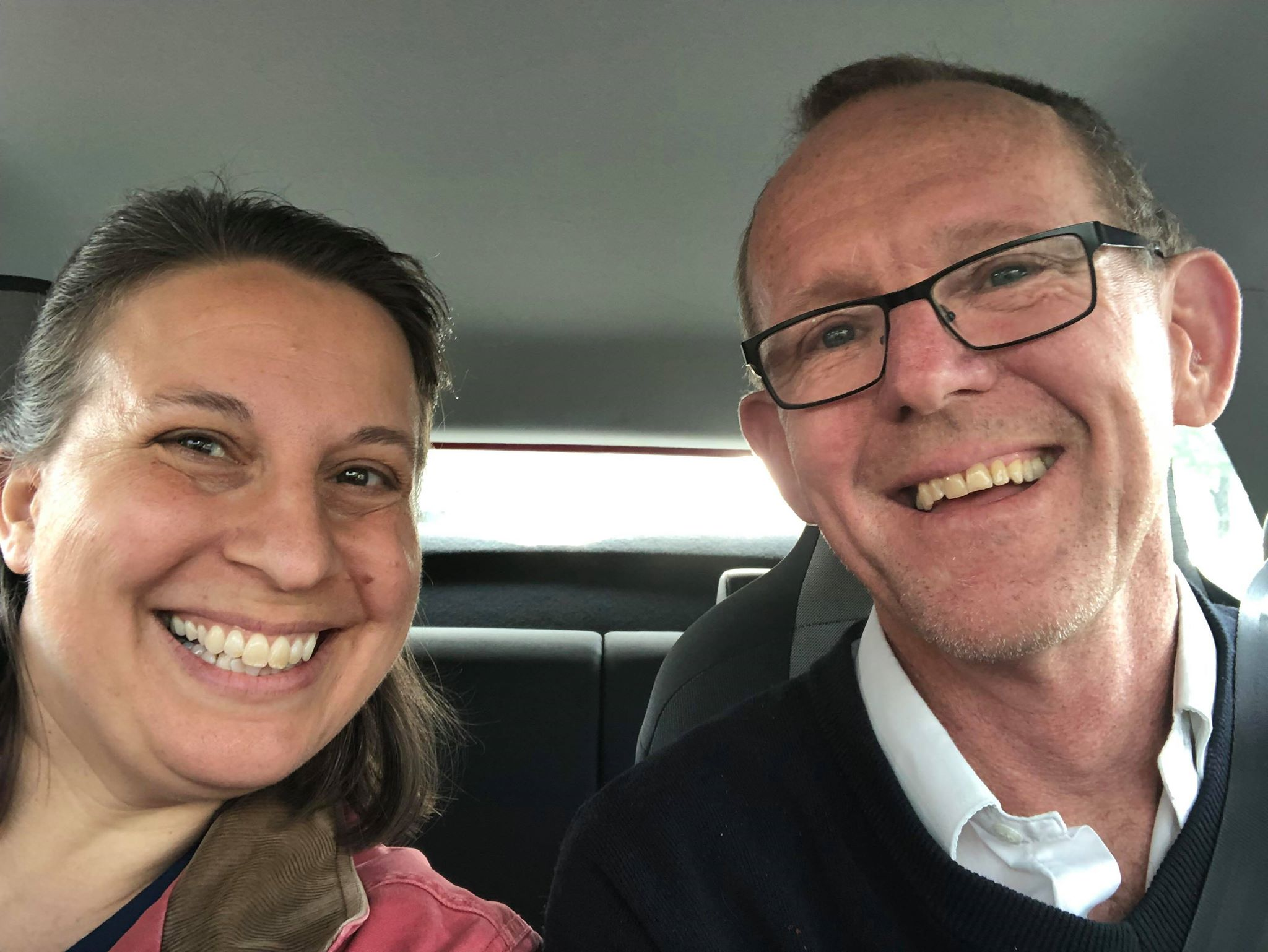 Deaconess Kim Bueltmann and the Rev. Hugo Gevers, on the road in Germany.