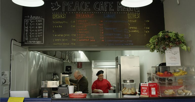 Peace Cafe, a project of Prince of Peace Lutheran Church, Cincinnati, provides opportunities for those trying to break out of the cycle of hopelessness. (KC Blake)