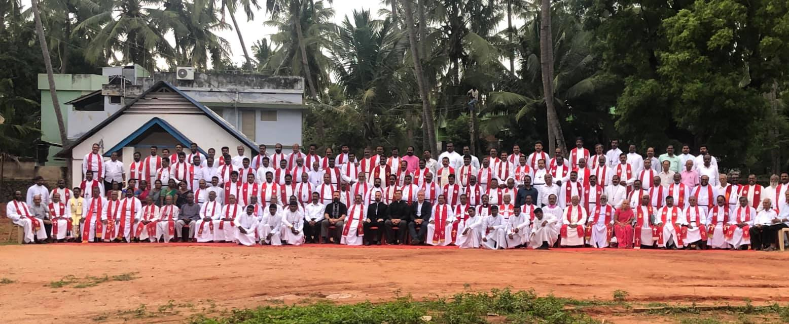 Rev. Dr. Ross Johnson preached and spoke to over 200 pastors about the theology of mercy and th theology of the cross at Concordia Theological Seminary in Nagercoil, India. LCMS Disaster Response.